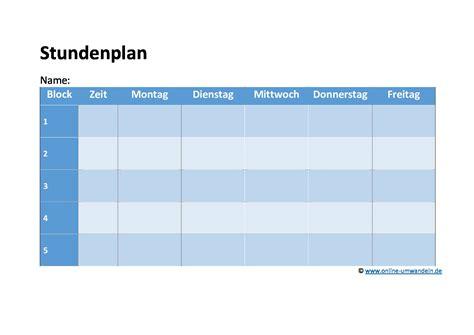 Blau De Kündigung Vorlage Pdf Stundenplan Vorlagen Doc Und Pdf Umwandeln De
