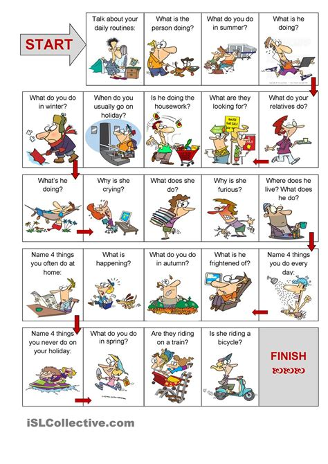 printable games in english present simple vs present continuous speaking activity