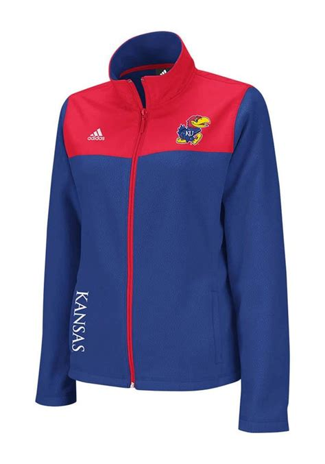 design basketball jacket 2 kansas jayhawks adidas womens blue micro fleece jacket