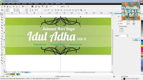 tutorial corel draw x4 membuat spanduk cara membuat spanduk idhul adha di coreldraw youtube