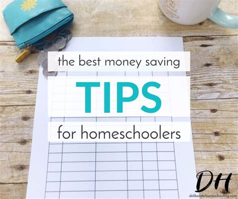 the best money saving tips for homeschoolers deliberate