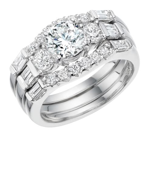 engagement ring matching eternity wedding rings ni