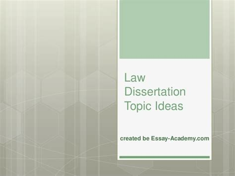 ideas for dissertation topics dissertation topics ideas