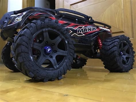 Madmax Traxxas X Maxx Wheels Tires On Rims 1 5 Hpi Km Baja 5b 1 5 traxxas x maxx wheels waterproof and wear resistant widened tire rc truck 4pcs