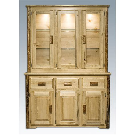 Kitchen China Cabinet Hutch Montana Woodworks Glacier Country China Hutch 417700
