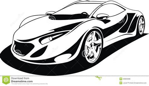 sports car black and white my original sport car design royalty free stock photos