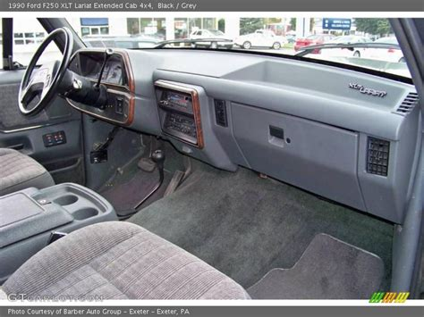1990 Ford F150 Interior by 1990 Ford F250 Xlt Lariat Extended Cab 4x4 In Black Photo