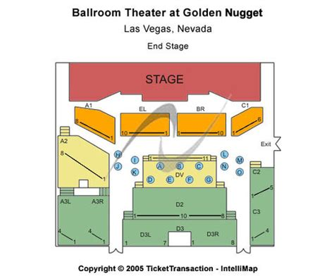 golden nugget seating chart ballroom theater golden nugget tickets in las vegas