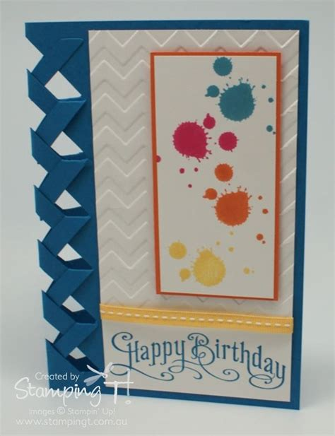 brandys cards braided card template braided edge template stin up australia