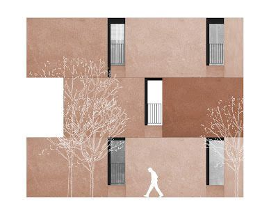 david chipperfield basic art digital drawing emv housing madrid david chipperfield architecture visualisation