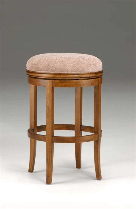 hillsdale furniture oak view backless swivel counter stool
