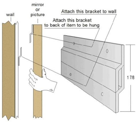 how to hang a heavy picture frame without nails hangman products z bar hanger mirror hanging picture