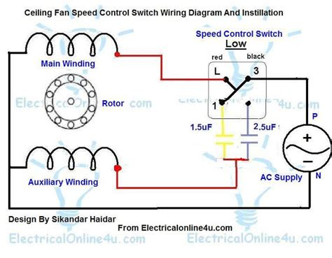 fan speed switch ceiling fan speed switch wiring diagram
