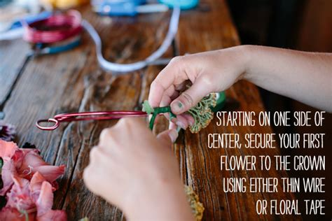 How To Make A Flower Crown Out Of Paper - you ll this easy and stylish diy flower crown tutorial