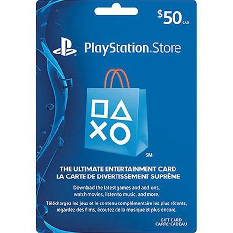 Google Store Gift Card Canada - playstation network 50 gift card for ps4 ps3 psp ps vita psn store prepaid code for