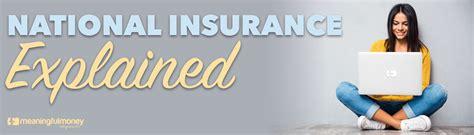 National Insurance Letters Explained national insurance explained meaningful money