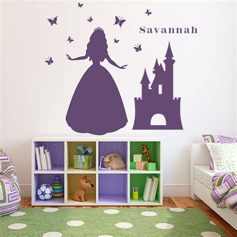 Childrens Large Wall Stickers Princess Wall Decal Large Vinyl Wall Ar Custom Name