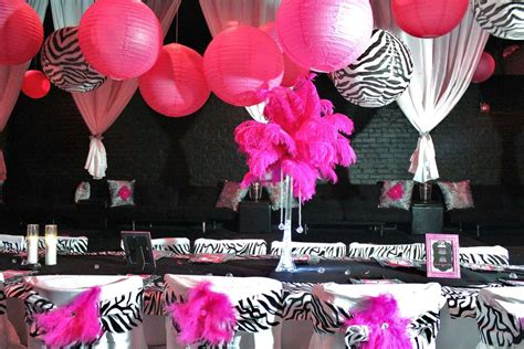 hot pink themes hot pink and black party decoration ideas psoriasisguru com