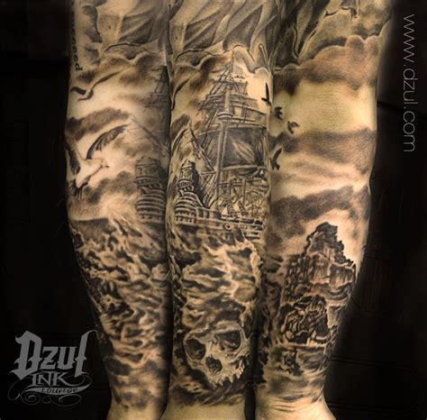 pirate tattoo sleeve the world s catalog of ideas