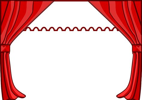 Curtain Theater Red Stage Curtains Clip Art Clipart Panda Free Clipart