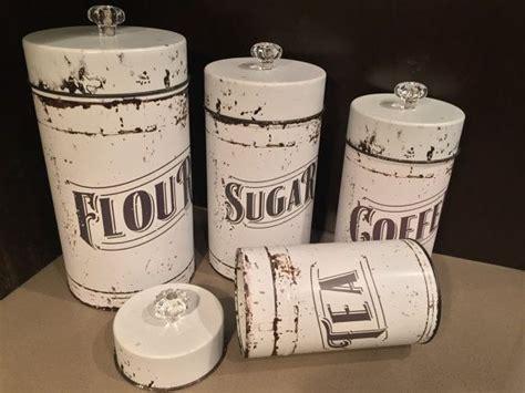 vintage kitchen canisters  piece set flour sugar