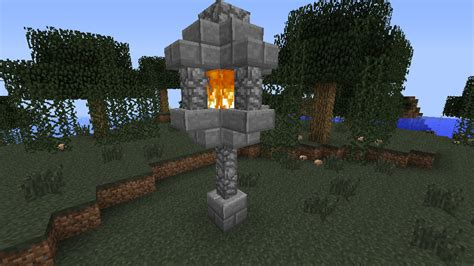 Easy To Build Treehouse - detail lamp post minecraft