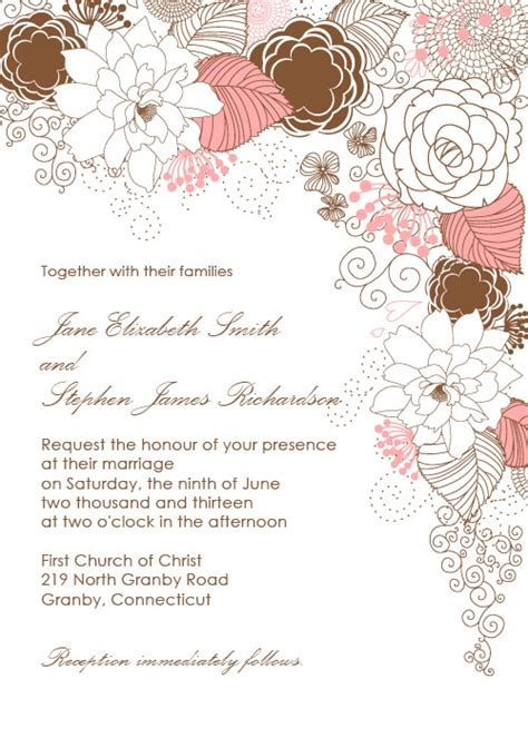 flower invitations templates free floid s country floral wedding invitation here 39s a
