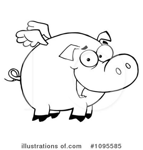 flying pig coloring page flying pig clipart black and white clipartxtras