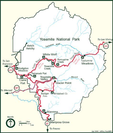 printable map yosemite national park yosemite national park maps
