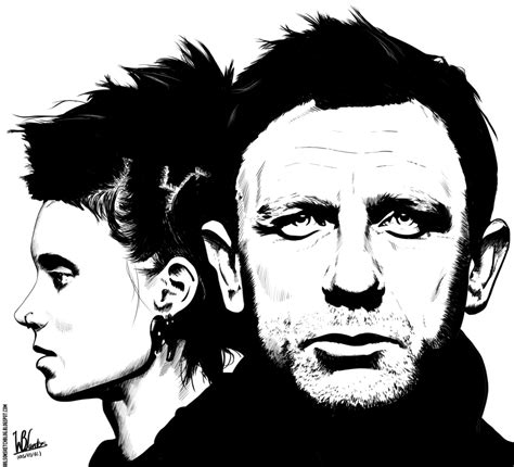 the girl with the dragon tattoo 2 the with the ink drawing