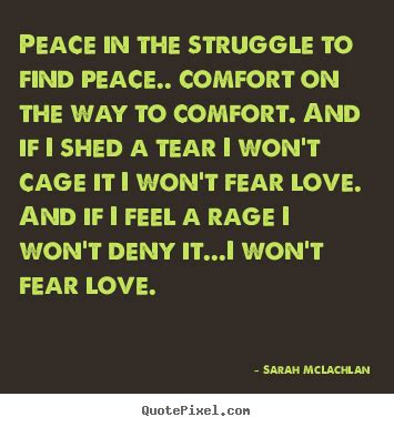 Comfort And Peace Quotes by Quote About Peace In The Struggle To Find Peace