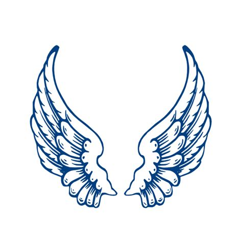 largeangelwings clip art at clker com vector clip art