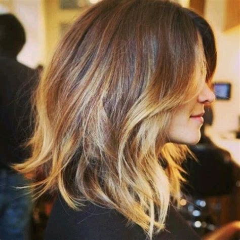 how to do an ombre with medium length hair ombre shoulder length love hairstyles pinterest
