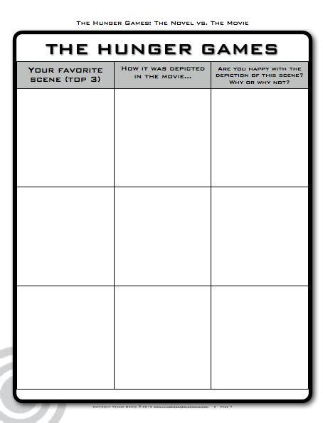 printable hunger games hunger games worksheets lesupercoin printables worksheets