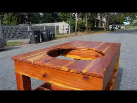 Patio Cooler Cart Taproot Cedar Cook Table Youtube