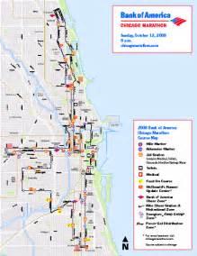 Chicago Marathon Course Map by Chicago Marathon Course Map 2008 Chicago Illinois Mappery