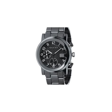 Guc Ci Ceramic Black gucci watches g chrono black ceramic bracelet