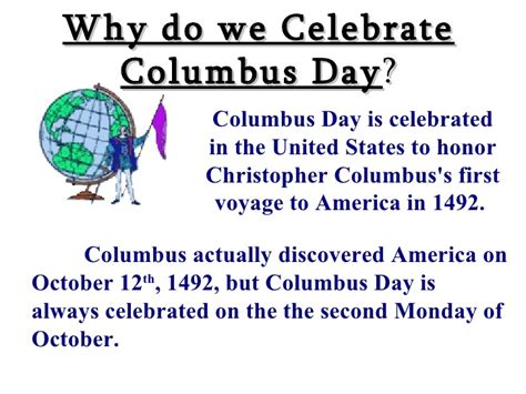 why day celebrated columbus day