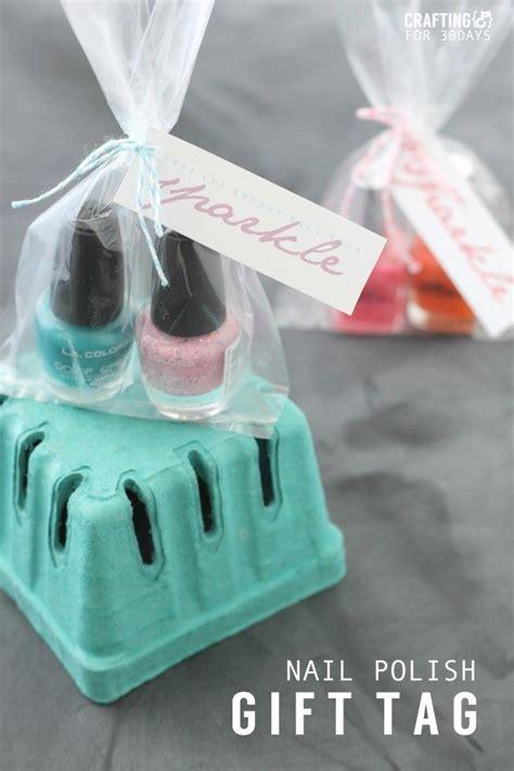 printable nail polish gift tags nail polish gift idea free printable tags printable