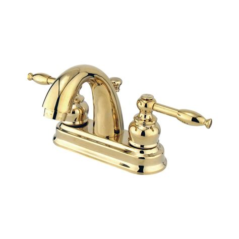 bathroom faucets denver shop elements of design denver polished brass 2 handle 4