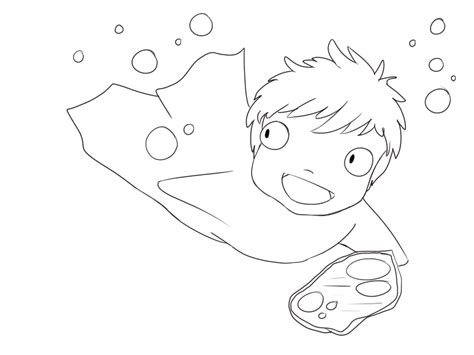 coloring pages ponyo ponyo coloring pages sketch coloring page