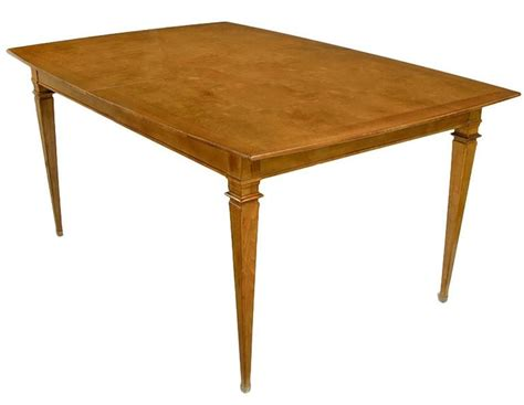 copper dining room tables empire style burled walnut parquetry top dining table with