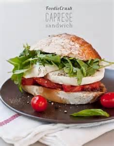 balsamic roasted tomato caprese sandwich recipe dishmaps