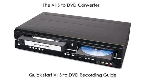convertire cassette in dvd the vhs to dvd converter start guide