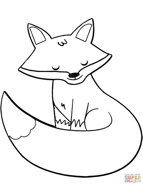 Coloring Page Fox by Fox Coloring Page Free Printable Coloring Pages