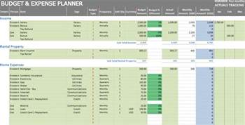 Monthly Expenses Template Excel by Excel Personal Expense Tracker 7 Templates For