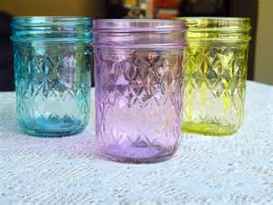 colored canning jars colored glass jars