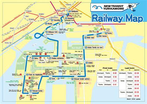 line map yurikamome line map black tokyo