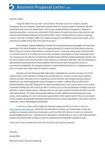 new business proposals letter of business service business letter