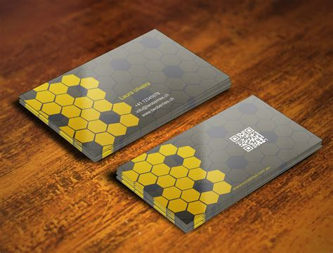bee business bee entry 28 by gohardecent for design some business cards